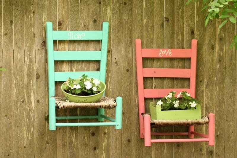 jardineras de sillas