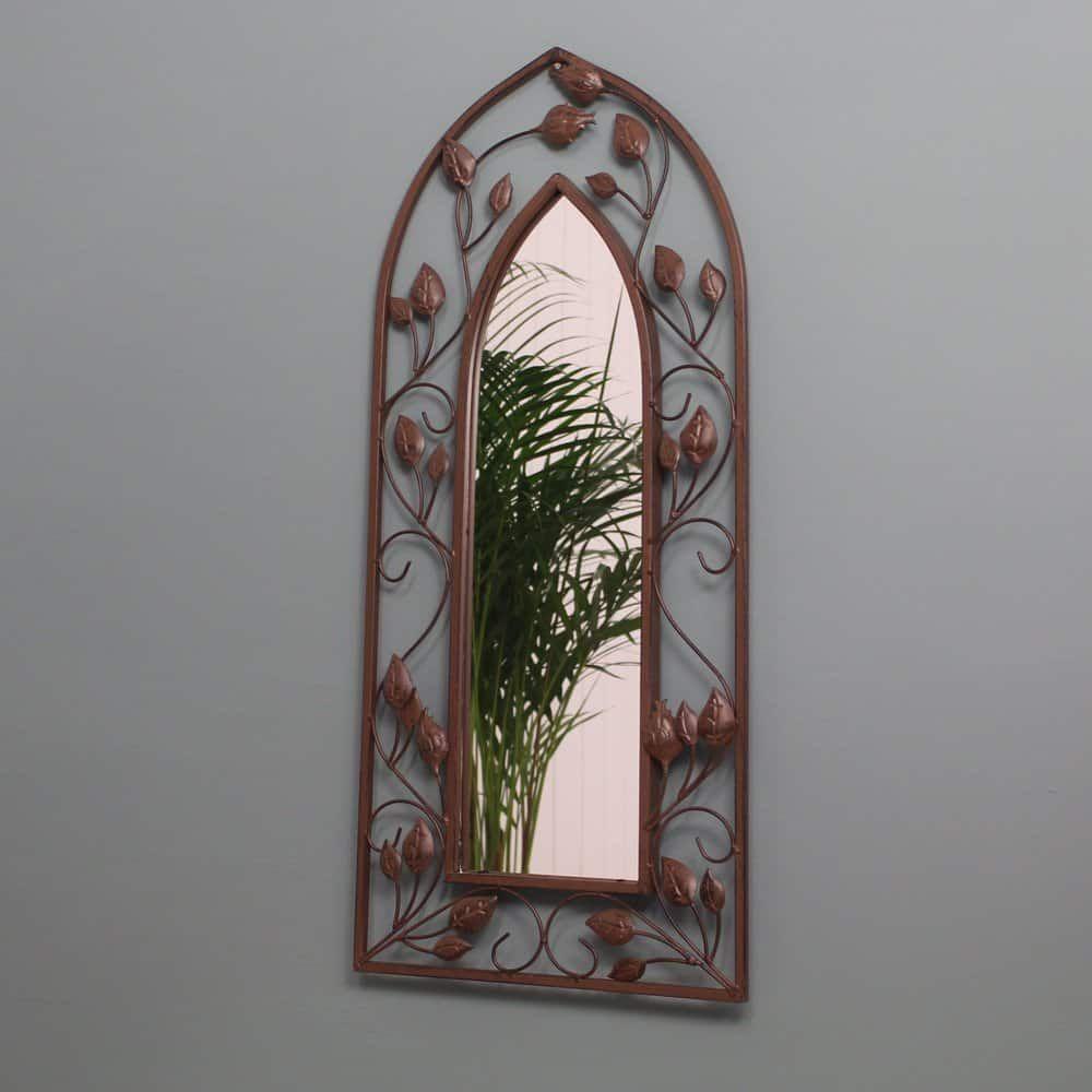 espejo de jardín de arco gótico