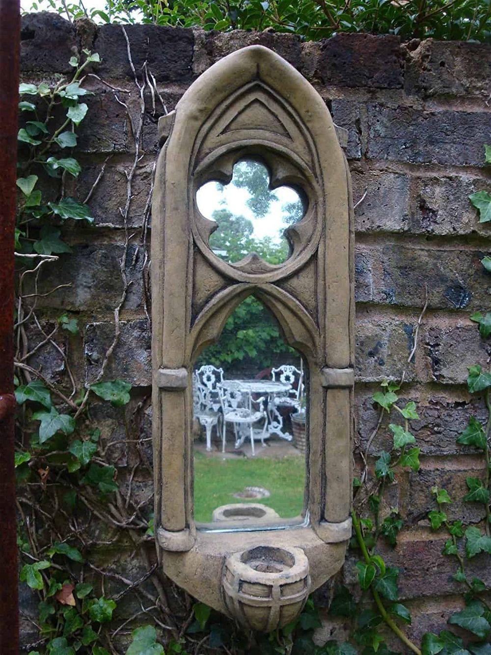 espejo de jardín gótico