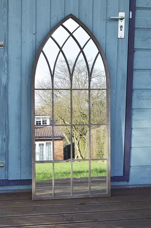 gran espejo de jardín rústico