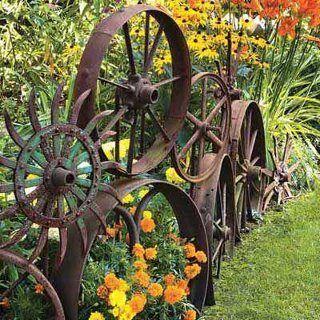 metal wheel edging ideas