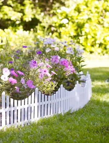 mini picket fence edging