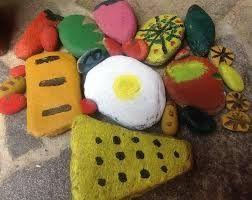 painted-pebble-food