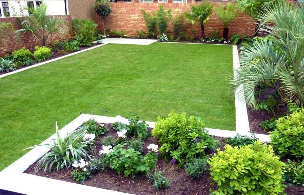 small garden ideas with edging