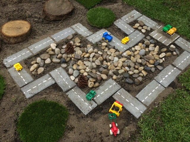 brick garden racetrack