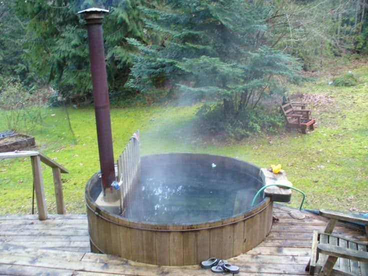 Wooden DIY Hot Tub