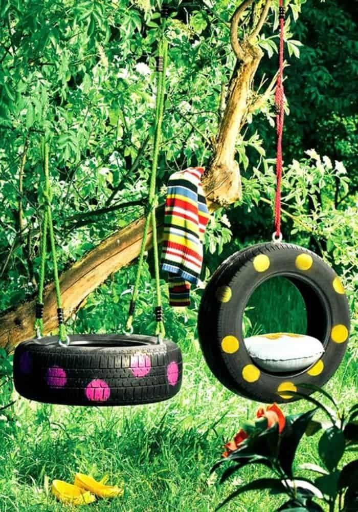 diy tyre swing