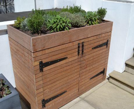 wheelie bin storage planter