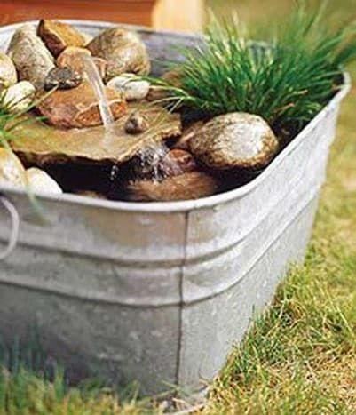 homemade pond