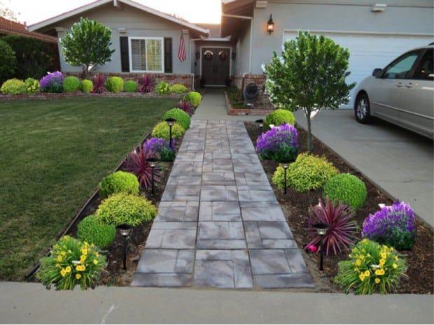 idea de jardín delantero 11