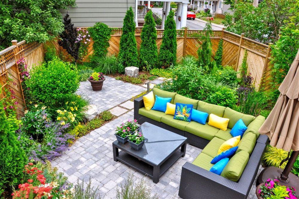 1. Small Patio Garden