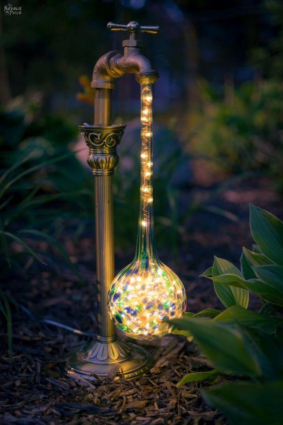 15. DIY Garden Lighting