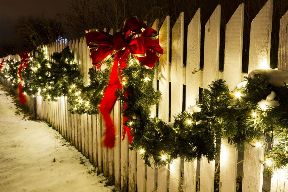 16. Christmas Garden Lights