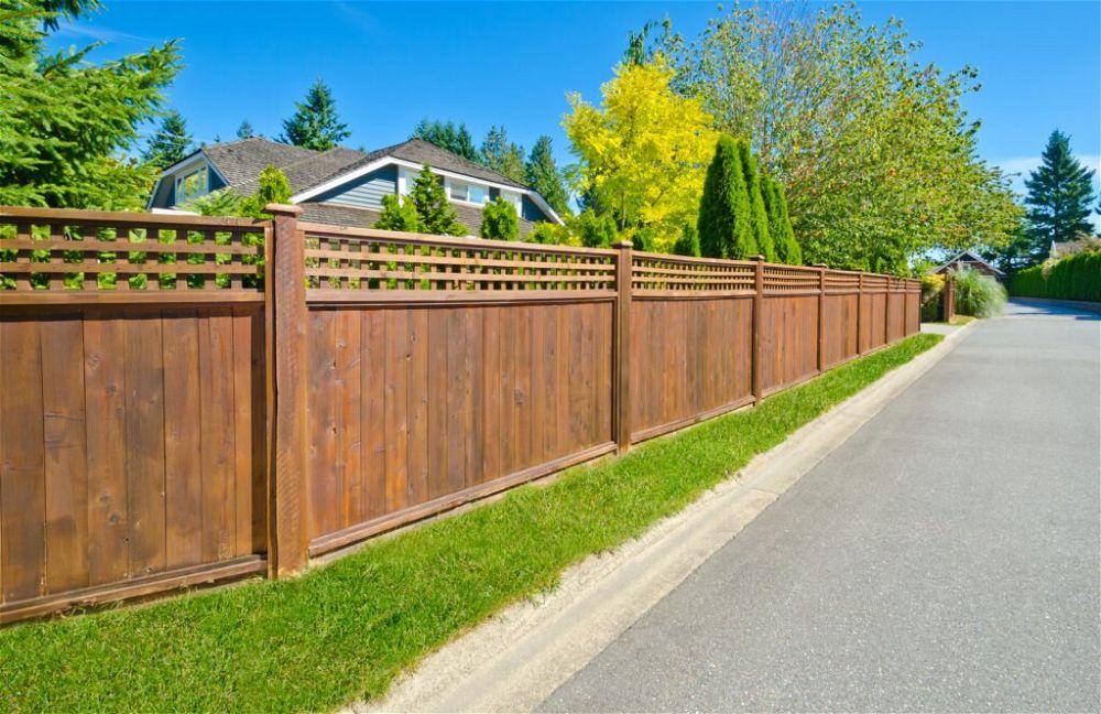 17. Wooden Garden Fence