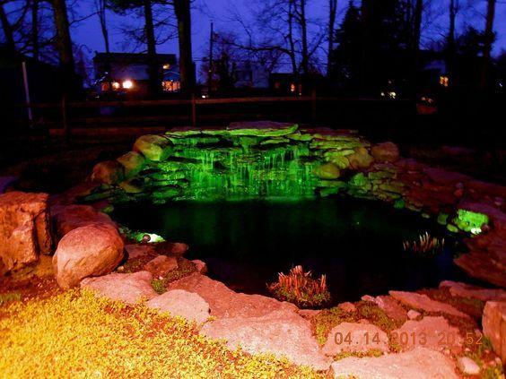 18. Garden Pond Lighting