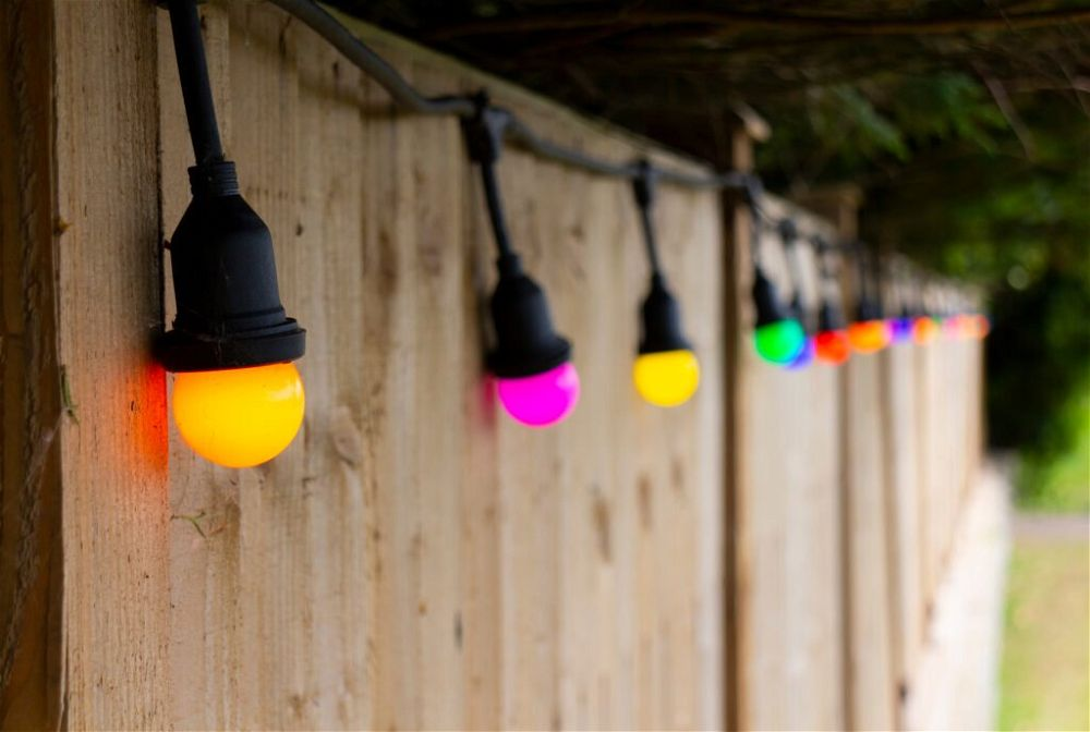 2. Garden Fence Lighting
