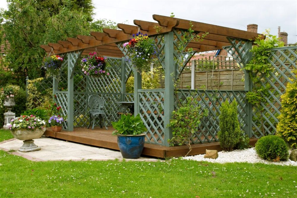 20. Garden Decking Canopy