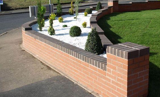 21. Front Garden Brick wall