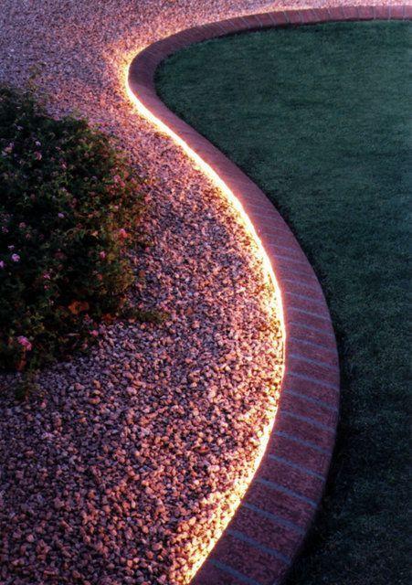 25. Garden Border Lighting
