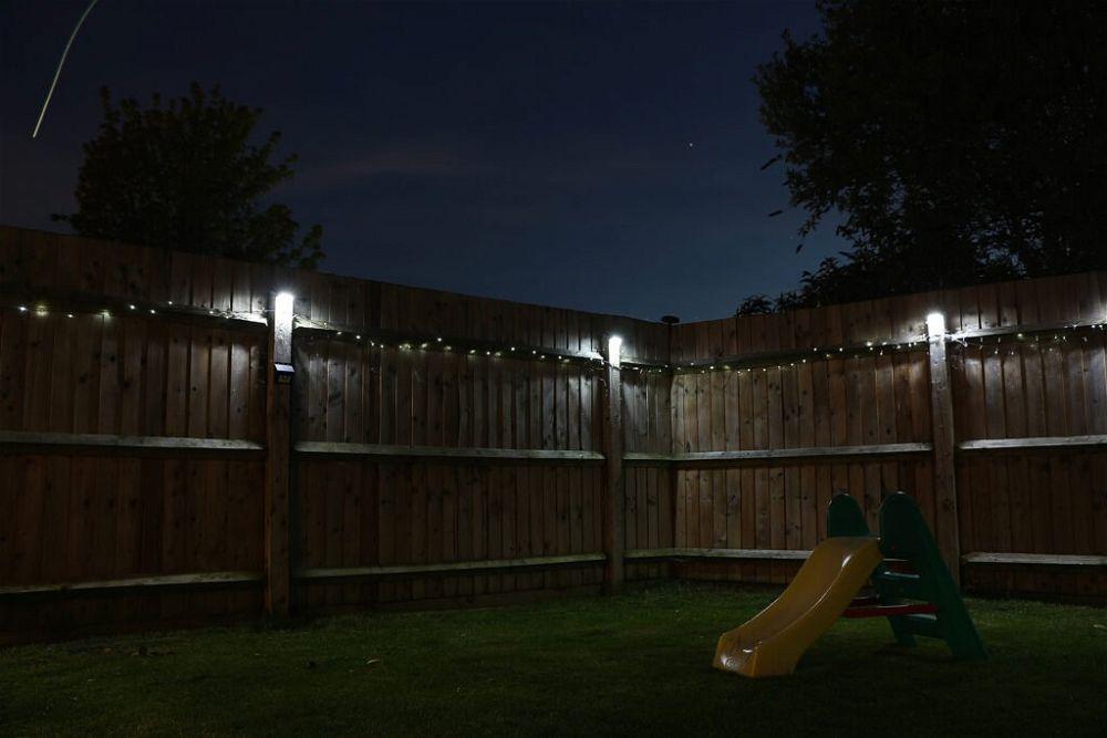 7. Garden Fence Lighting