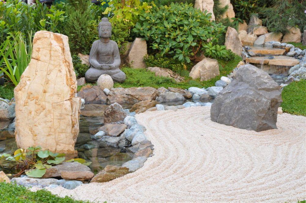 1. Jardín japonés para espacios reducidos