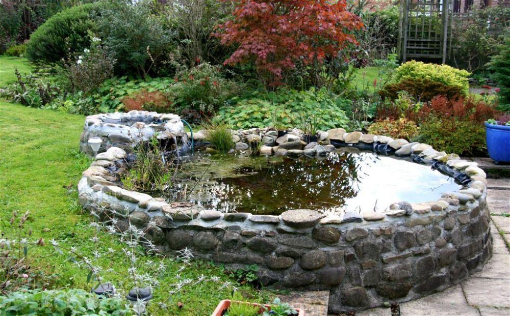 1. Estanque de jardín elevado