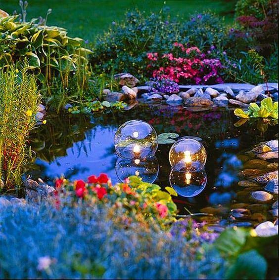 16. Iluminación de estanques de jardín