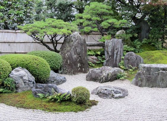 16. Jardín de rocas japonés