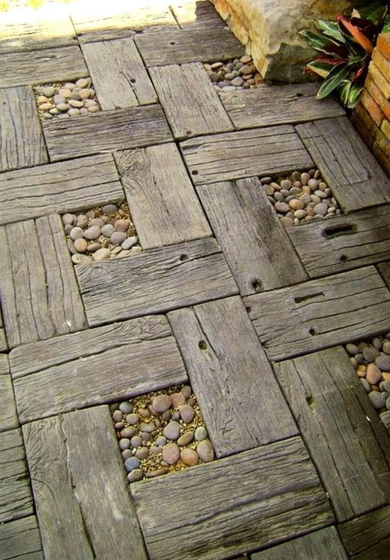 16. Wooden Garden Path
