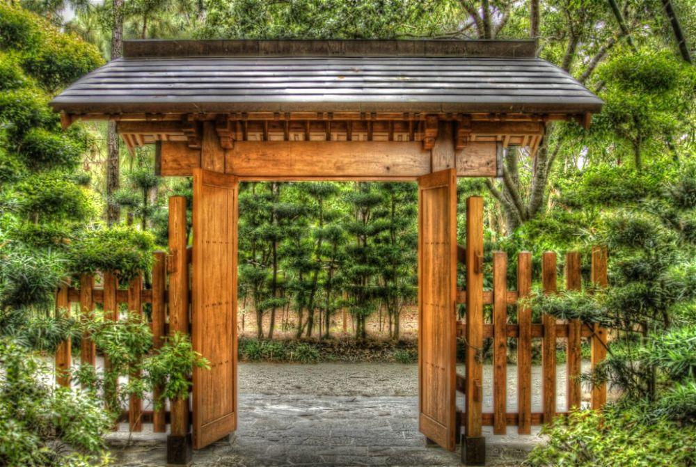 17. Puertas del jardín japonés