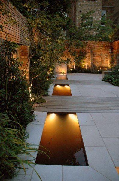 20. Estanque de jardín contemporáneo