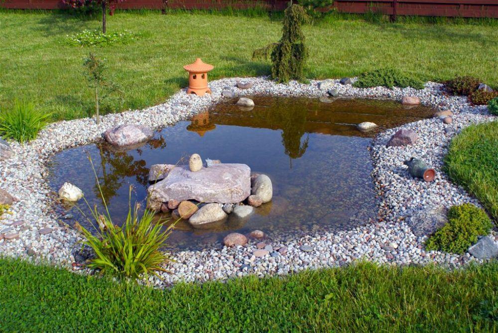 6. Borde de estanque de jardín