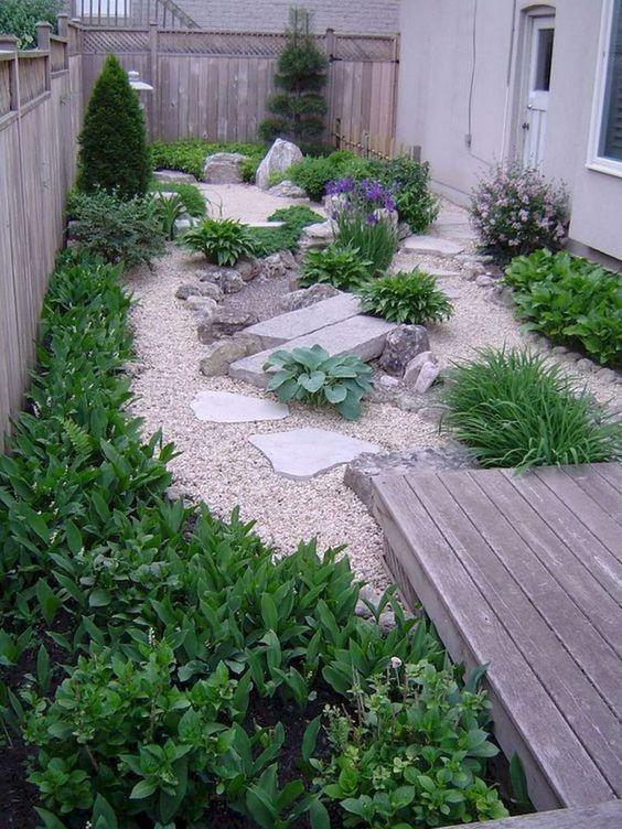 6. Pequeño diseño de jardín japonés
