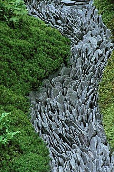 9. Jardín de piedra japonés