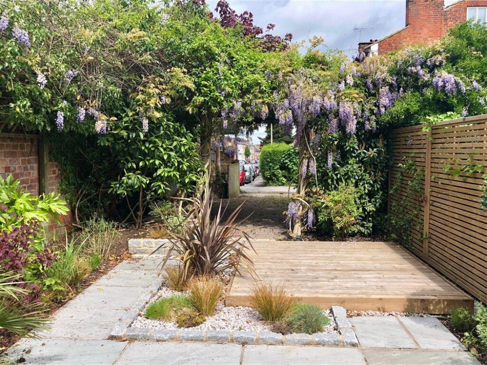 13. Small Garden Decking on a Budget