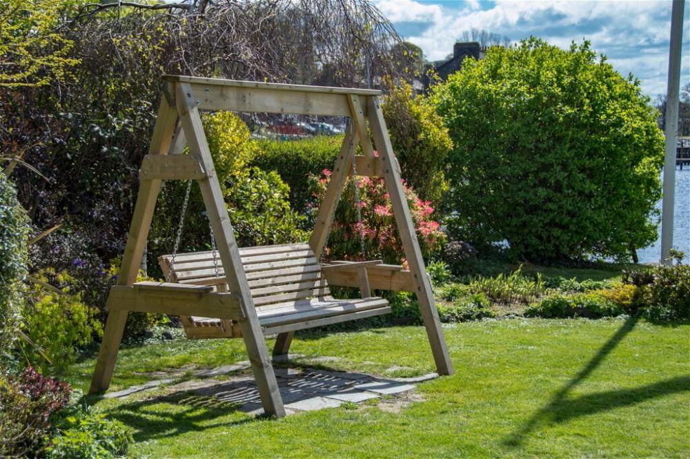 16. Wooden Garden Seating
