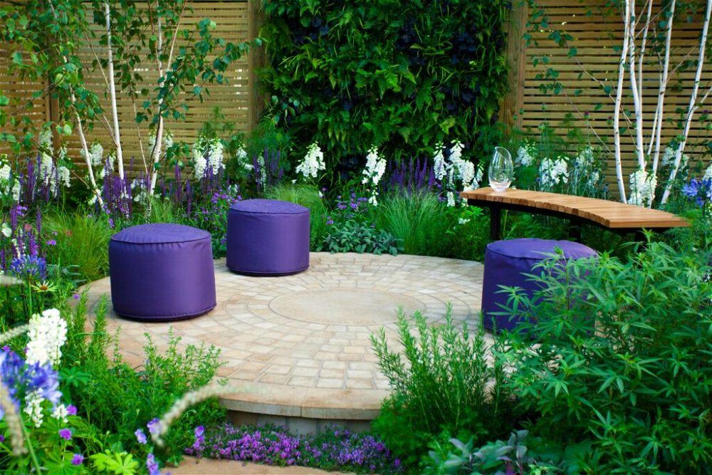 6. Garden Seating Area Design
