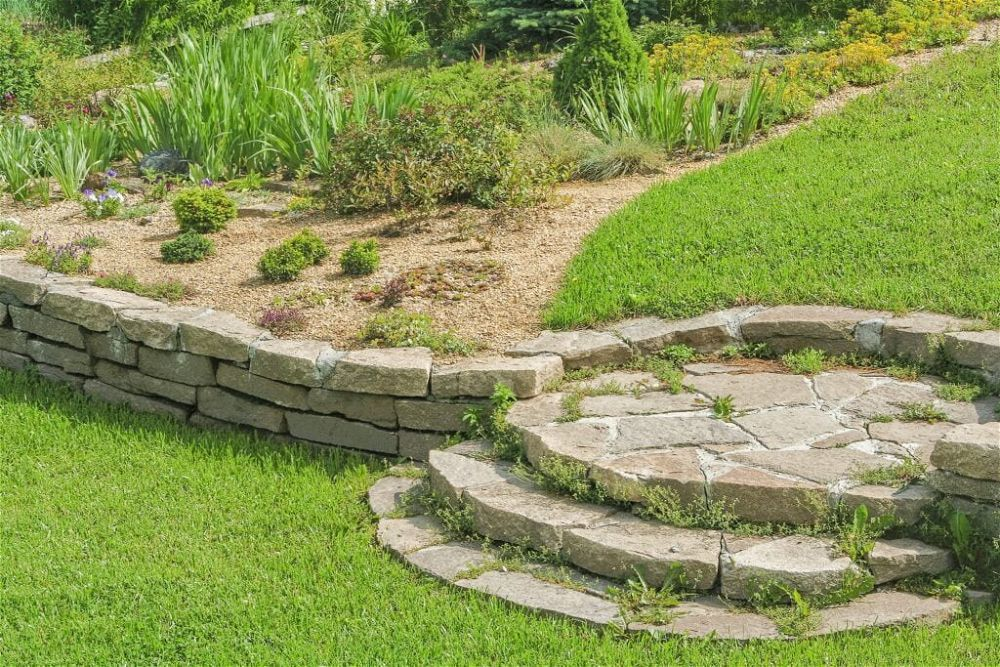 6. Sloped Garden Landscape