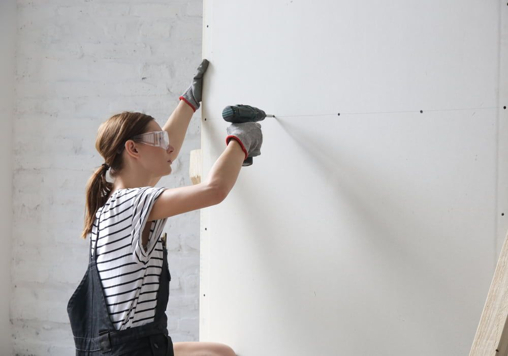 Drilling into Plaster