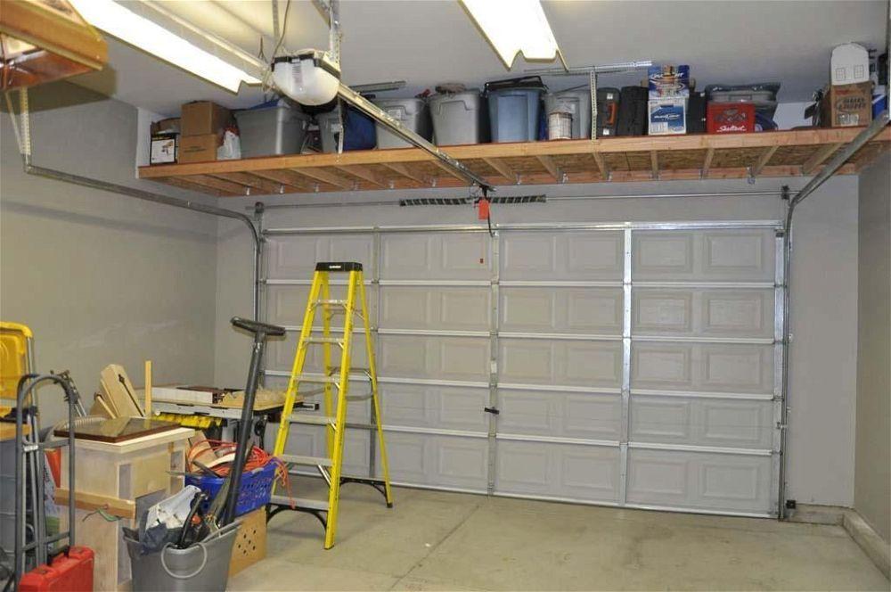 garage-storage-diy-ceiling-shelf