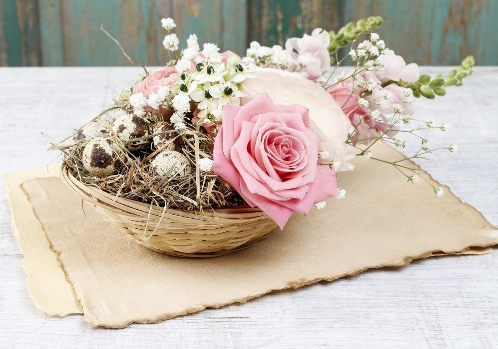 easter-flower-basket-with-pink-roses