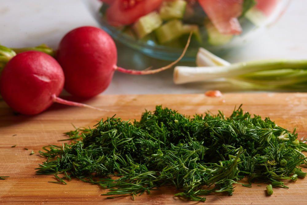 Chopped herb fennel