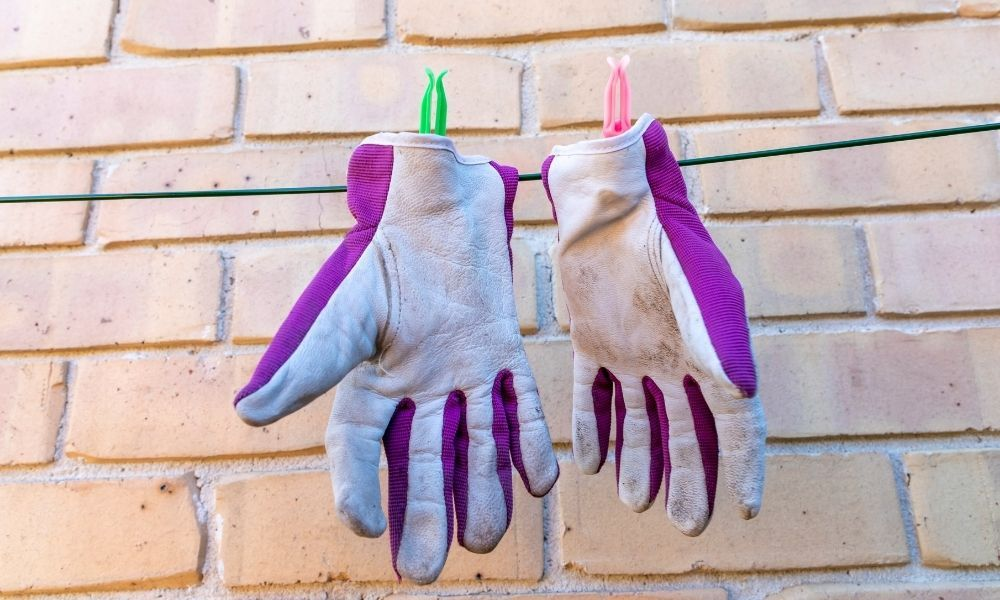 air-drying-leather-gardening-gloves