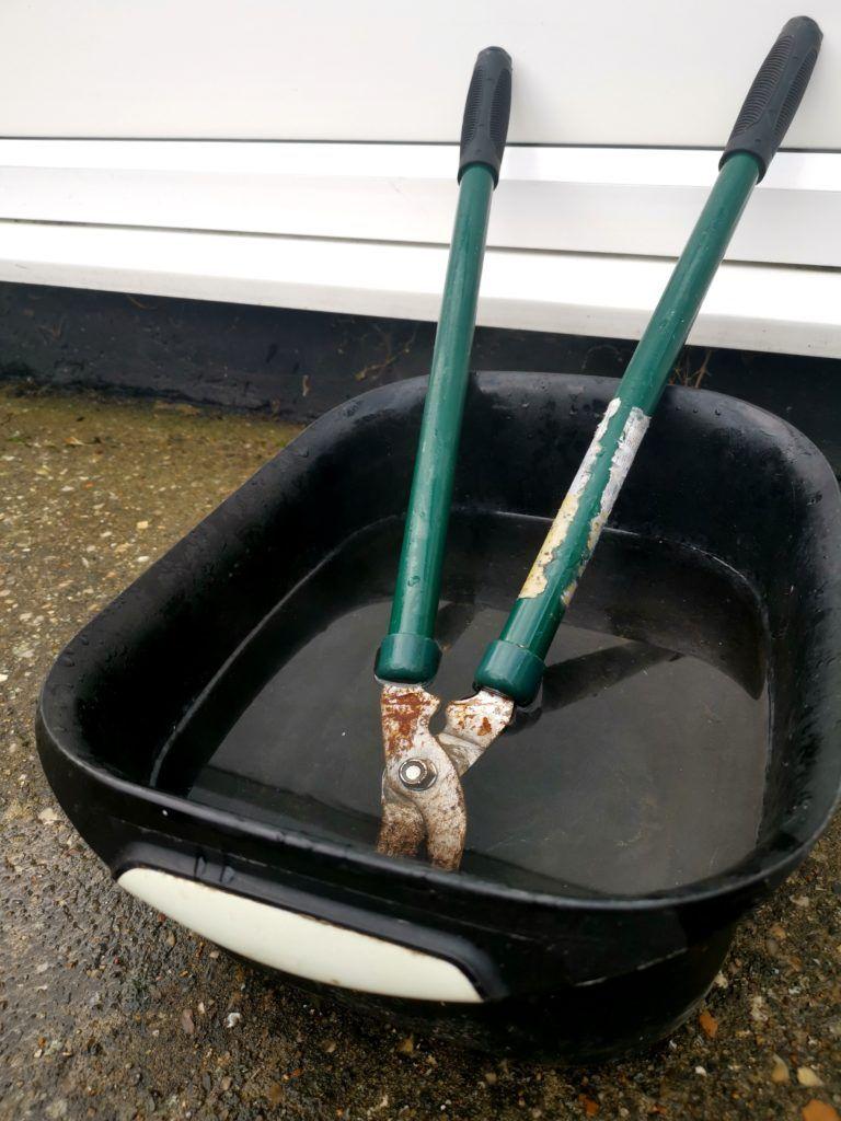 soak-rusty-garden-tool